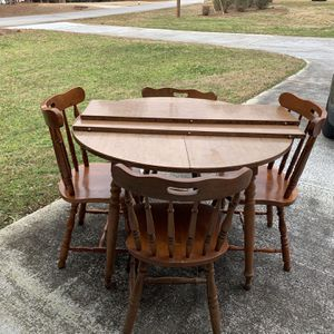 Kitchen Table With 2 Inserts And 4 Chairs for Sale in Conyers, GA