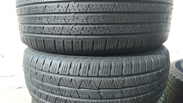 Two matching set of continental tires for sale 235/65/17