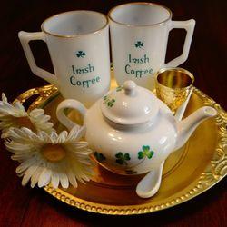 St.Patrick's Milk Glass and Tea Pot for Sale in Virginia Beach,  VA