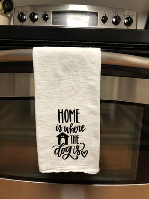 Handmade Kitchen Hand Towel Dog Mom for Sale in Shepherdstown, WV
