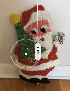 Vintage Plastic Popcorn Santa With Christmas Tree for Sale in Brookfield, IL