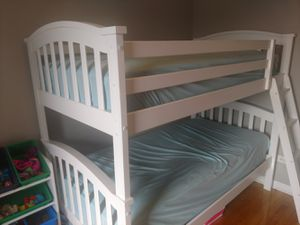 Wood bunk beds with mattresses for Sale in Chicago, IL