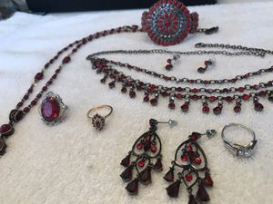 Christmas jewelry ensemble, bright sparkling reds mix & match for Sale in Mokena, IL