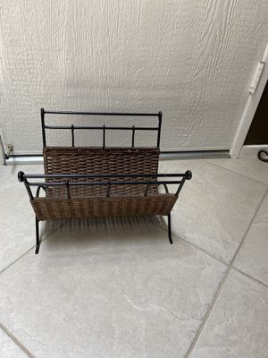 Magazine rack, wicker for Sale in Riverside, CA