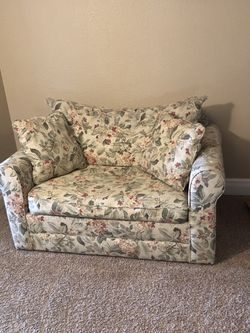 Loveseat twin size pullout couch with ottoman and storage for Sale in Thornton,  CO