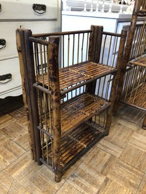 Rattan bamboo plant stand small shelf for Sale in San Diego, CA