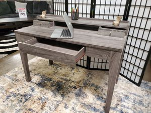 Computer Writing Desk 3 Drawers and 1 Shelf, Distressed Grey Finish, SKU 172062 for Sale in Santa Ana, CA