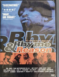 Rhyme & Reason DVD Hip Hop Rap Notorious B.I.G. Biggie Smalls Dr. Dre Nas Wu-Tang Puff Daddy Master P rare dvd for Sale in Buena Park,  CA