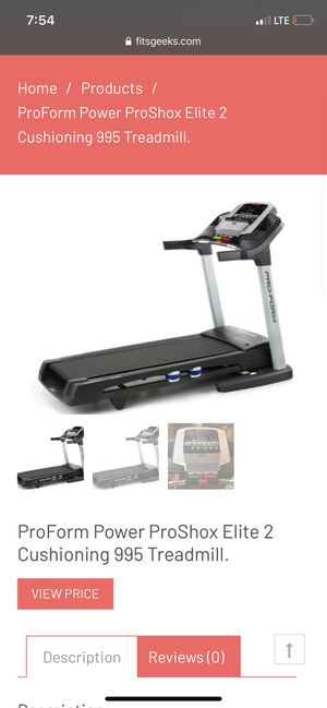 ProForm Power ProShox Treadmill for Sale in Wexford, PA