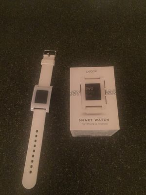 Pebble smart watch white for Sale in Scottsdale, AZ