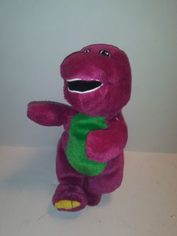 "Vintage 1997 Gund BARNEY THE PURPLE DINOSAUR 7"" Stuffed Bean Bag Plush Toy NWT for Sale in Dewey,  AZ"