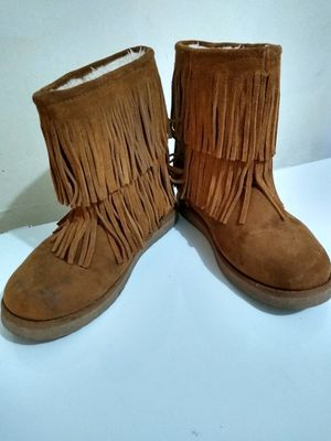 Layered Fringe Boots w/ Fur Lining 8 for Sale in Killeen, TX