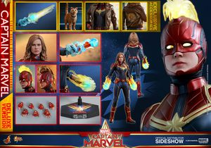 Hot Toys Marvel MMS522 Captain Marvel Deluxe Version 1/6 Scale Figure for Sale in West Covina, CA