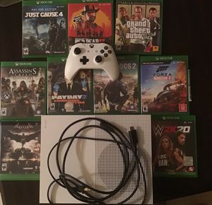 Xbox one S ( 1TB) + THE GAMES ARE FREE. ($IM WILLING TO MAKE A DEAL$) (ALL CORDS INCLUDED!) (willing to meet in person) for Sale in Hollywood, FL