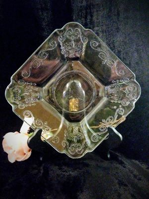Small Antique Clear Depression Glass Dish for Sale in Lake Forest, CA