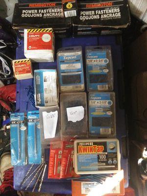 Tapcons& hilti nails,concrete drill bits for Sale in Saint Albans, WV