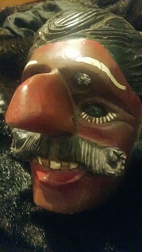 Hand Carved/Painted Antique Theater Mask