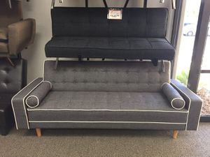 SPL Grey Futon Bed with Pillows, 7567GRY for Sale in Downey, CA