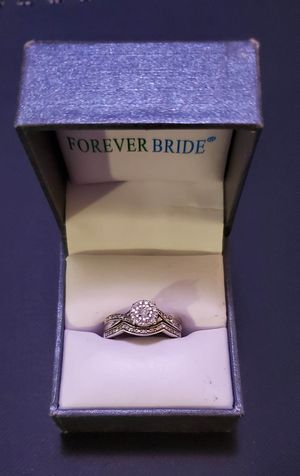 Sterling Silver Diamond Engagement Ring Set for Sale in Spokane Valley, WA