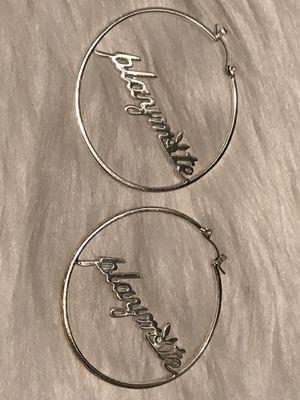 Silver Diamond Playmate Hoop Earrings for Sale in Nashville, TN