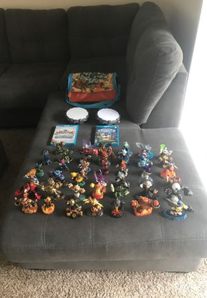 40 skylanders with two portals and games+ case for Nintendo Wii U for Sale in Scottsdale, AZ