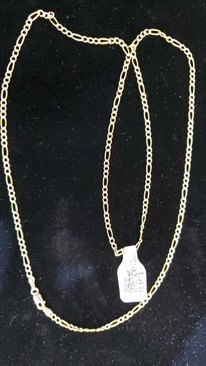 "10kt... 24"" Figaro link Necklace for Sale in Phoenix, AZ"