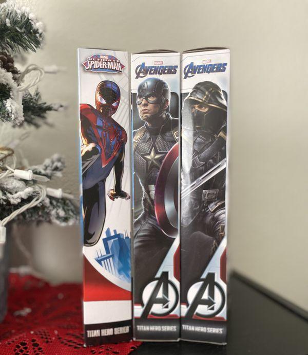 3 Marvel Action Figures