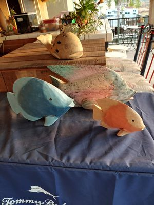 Three Wooden fish for Sale in Lake Elsinore, CA