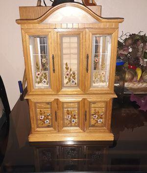 Large antique jewelry armoire cabinet for Sale in Fresno, CA