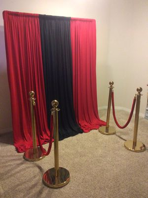BACKDROP & STANCHIONS ...BIRTHDAY PARTY, BABY SHOWER, QUINCEAÑERA, WEDDING... F..O..R.....R..E..N..T.....O..N..L..Y for Sale in Chula Vista, CA