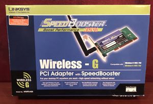 Linksys Wireless G Adapter for PCI Slot for Sale in Collegeville, PA