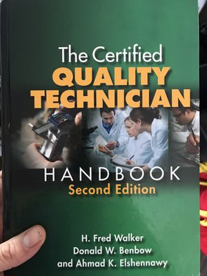 QUALITY CONTROL HANDBOOK for Sale in Placentia, CA