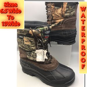 "Brand New Mens Camouflage Hunting, Rain, Snow, & Winter 10"" Waterproof, Leather Synthetic upper, Thinsulate boot With removable insert. for Sale in Tinton Falls, NJ"