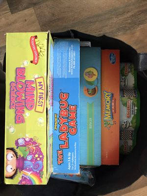 Bag of kids games for Sale in Tacoma, WA