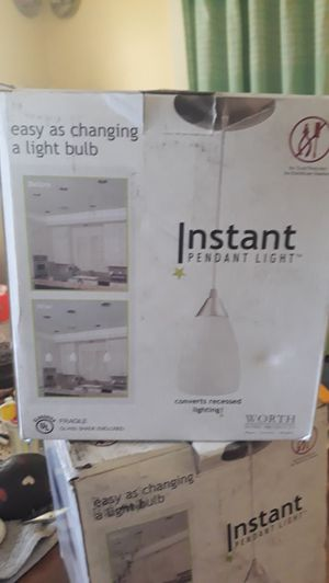 Instant pendant light kit for Sale in Richmond, VA