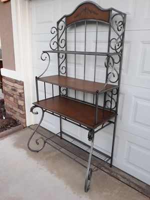 "LARGE BAKERS RACK / PLANT SHELF / COLLECTORS SHELF / ETEGERE (42""W × 24""D × 76""H) for Sale in Corona, CA"