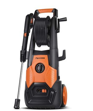 PAXCESS Electric Pressure Power Washer 2150 PSI 1.85 GPM with Spray Gun, Adjustable Nozzle, Hose Reel, Orange for Sale in Fort Washington, MD