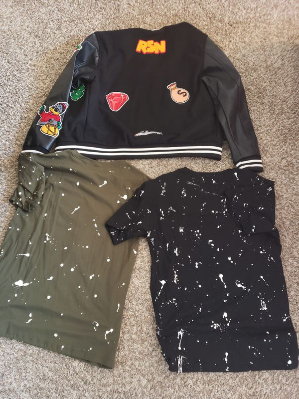 Exclusive Reason Brand Bomber Jacket And Shirts All Size XL All New With Tags For Sale! Plus 1 free shirt size XL