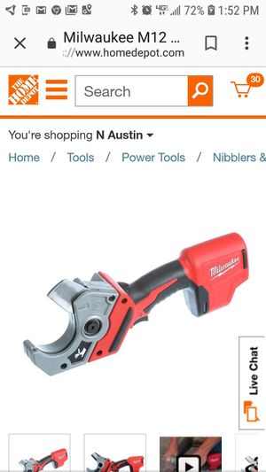 Brand new in box. Milwaukee M12 12-Volt Lithium-Ion Cordless PVC Pipe Shear (Tool-Only) for Sale in Austin, TX