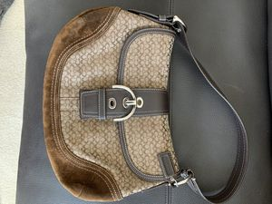 Coach shoulder purse brown leather and fabric for Sale in Issaquah, WA