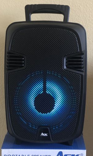 "8"" Portable Bluetooth Speaker with lights for Sale in Fountain Valley, CA"