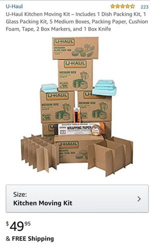 U-Haul Kitchen Moving Boxes for Sale in Purcellville, VA
