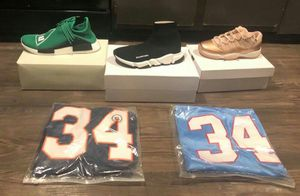 Designer shoes and hats clothes belts team jerseys for Sale in Dallas, TX