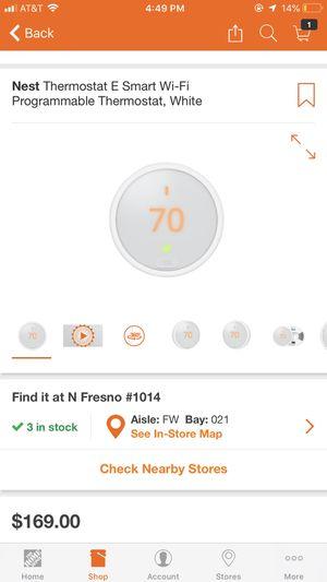 Nest E thermostat for Sale in Fresno, CA