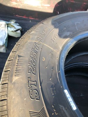 Trailer tires 225/75/15 for Sale in Port St. Lucie, FL