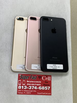 📲🔥iPhone 7 plus 32gb factory unlocked warranty for Sale in Tampa, FL