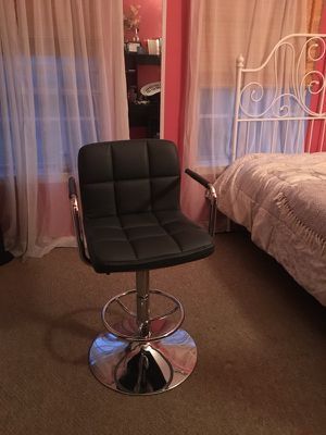 Tall swivel black leather chair for Sale in Baltimore, MD