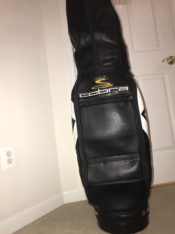 King cobra leather golf bag
