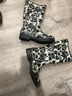 COACH rain boots for Sale in Pomona, CA