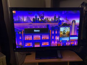 50 inch flat screen *NOT SMART* will sell with roku for Sale in Tarpon Springs, FL